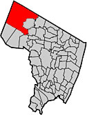 Mahwah as seen on Bergen County map