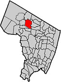 Saddle River as seen on Bergen County map