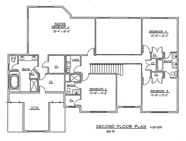 Second Floor Plan of 6 Flintlock Road, Montvale, NJ