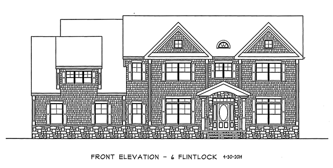 Elevation of 6 Flintlock Road, Montvale, NJ